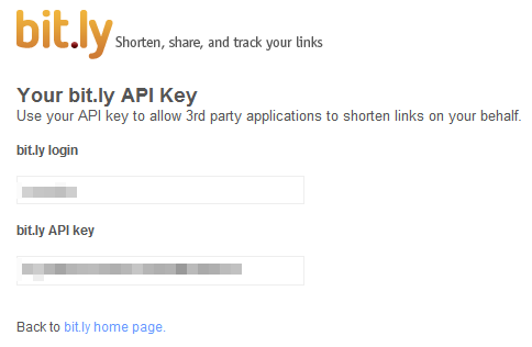 bit.ly api login and api key
