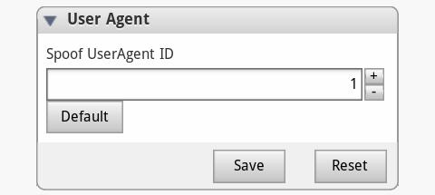 Spoof UserAgent ID