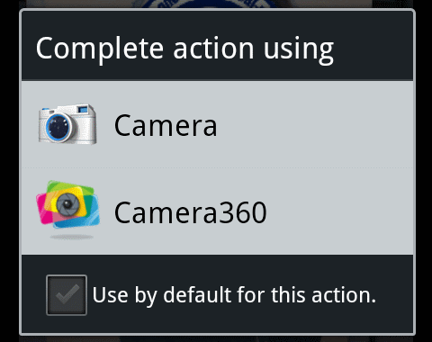 intent to camera