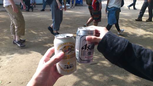 beer on mt.takao