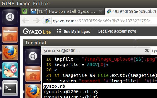 gyazo on ubuntu