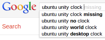 google about unvisible clock on unity