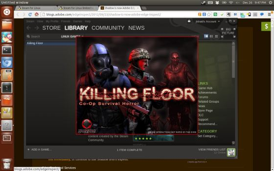 launch killing floor on linux