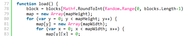 unityscript on syntaxhighlighter evolved