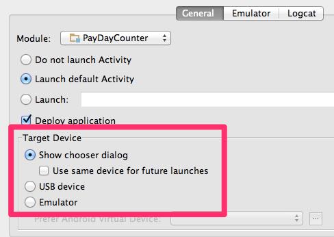 Run Configuration of AndroidStudio
