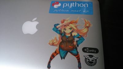 unity-chan on macbook air
