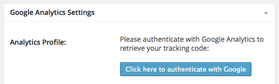 google analytics for wordpress authentication