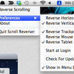 Mac でマウスホイールのスクロール方向をトラックパッドと逆にする Scroll Reverser