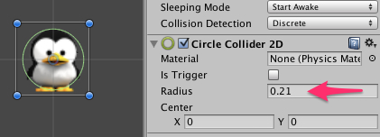 player-circle-collider-setting