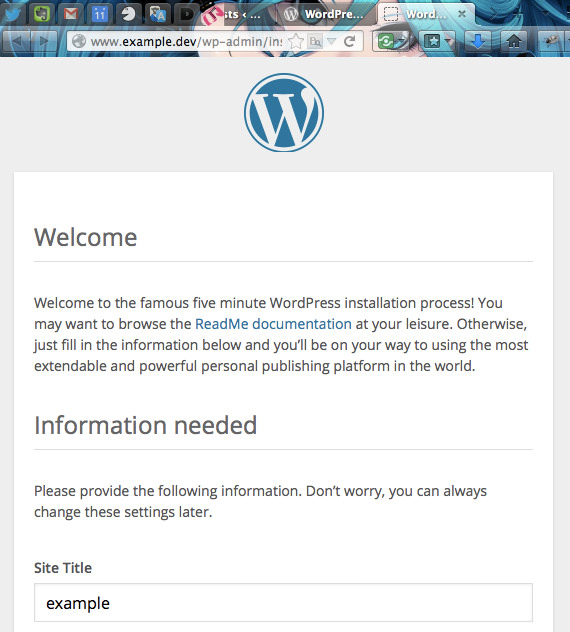 wordpress-initialize