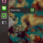 UbuntuPhone を真似たスワイプ起動するランチャー, GloveBox