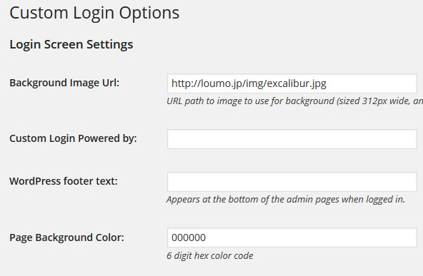 custom-login-setting