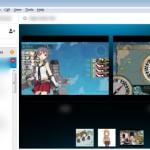 Skype で複数人同時に画面共有を行う。
