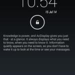 ロック画面で簡単に通知を確認できる AcDisplay