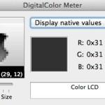 Mac デフォルトのカラーピッカー, DigitalColor Meter