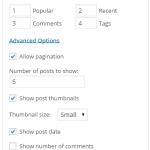 WordPress で手軽にタブ形式のウィジットを作れる WP Tab Widget