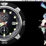 Mac のデスクトップとドック上に時計を表示できる Desktop Clock