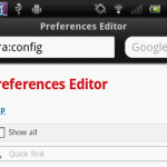 Android の Opera Mobile で UserAgent を偽造する。