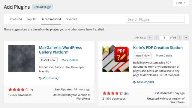 wordpress41-pluginrecommendations