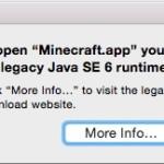 Mac で Minecraft を起動しようとしたら「Java をインストールしてください」と言われた