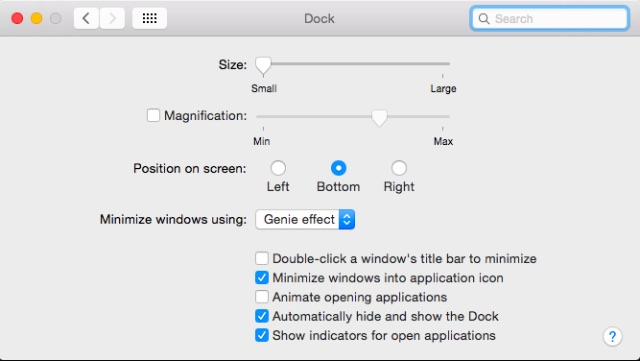 change-dock-settings