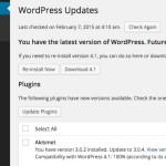 WordPress のプラグインやテーマ等のアップデートを止める Disable All WordPress Updates