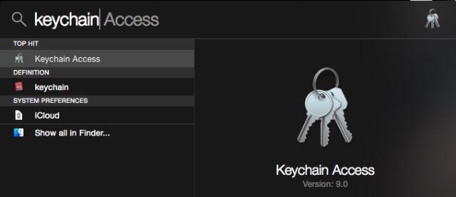 keychain-from-spotlight
