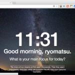 Chrome の新規タブをパーソナルダッシュボードに変更する拡張機能 Momentum