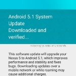 Nexus 5 を Android 5.1 にアップデートした