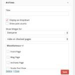 WordPress ウィジェットの表示/非表示をコントロールする Display Widgets