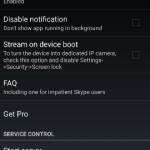 Android をネットワークカメラに変える IP Webcam