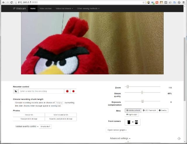 Android をネットワークカメラに変える IP Webcam | Lonely Mobiler