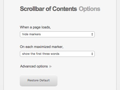 scrollbarofcontents-options