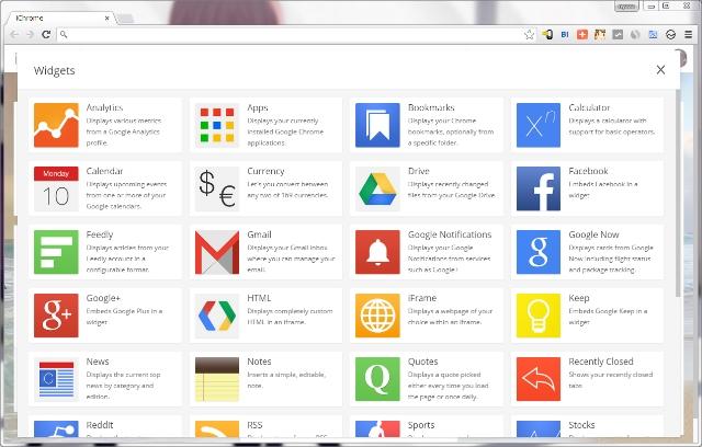 ichrome-widgets