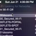 OS X から特定の無線LANへの自動接続設定を削除する