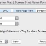 Mac でスクリーンショット時のファイル名を変更するアプリ Tiny for Mac