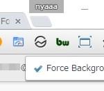 Google Chrome で新規タブを常にバックグラウンドで開く拡張機能 Force Background Tab