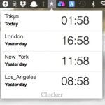 Mac のメニューバーに常駐する世界時計 Clocker