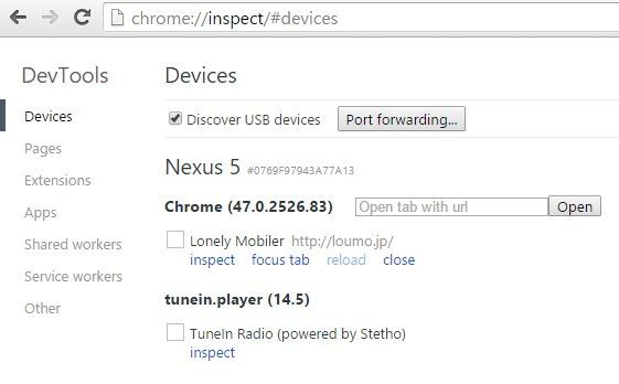 chrome-inspect-devices