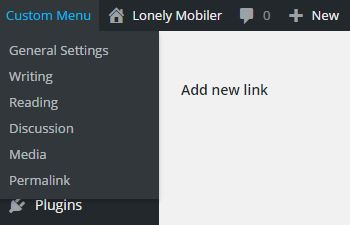 wordpress-custom-admin-bar-add-settings-menu