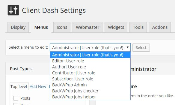 wordpress-client-dash-edit-menu-role