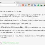 Chrome の新規タブをシンプルなメモ帳に変えてくれる拡張機能 Papier