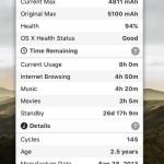 Mac のメニューバーからバッテリーの状態を把握できるアプリ Battery Health