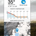 Mac のメニューバーに常駐する天気アプリ WeatherBug Lite - Weather Forecasts and Alerts