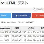WordPress で CSV から HTML のテーブルを生成するプラグイン CSV to html