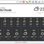 Chrome のツールバーから天気を確認できる拡張機能 Weather