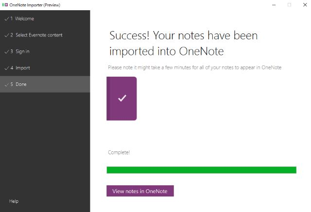evernote-to-onenote-import-success