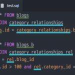Atom で複雑な SQL をより見やすくするパッケージ Qolor