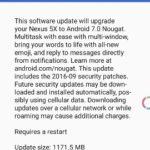 Nexus 5X を Android 7 Nougat へアップデートした