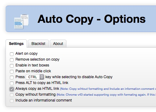 chorme-auto-copy-option